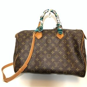 Authentic Louis Vuitton Speedy 35 with strap